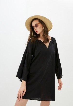 Платье пляжное Seafolly Australia. Цвет: черный