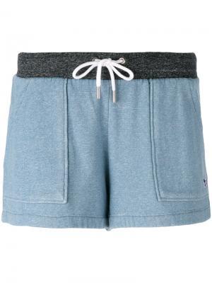 Шорты с накладными карманами Maison Kitsuné. Цвет: синий