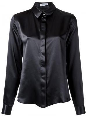 Шелковая рубашка Gloria Coelho. Цвет: чёрный