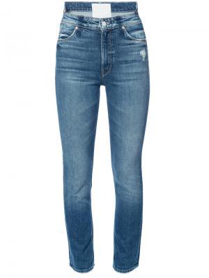 Облегающие джинсы Mother. Цвет: синий