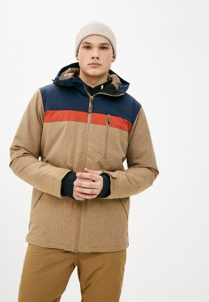 Куртка горнолыжная Billabong. Цвет: коричневый