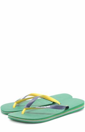 Резиновые шлепанцы Havaianas. Цвет: зеленый
