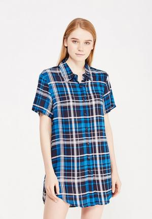 Рубашка домашняя Mia-Mia. Цвет: синий