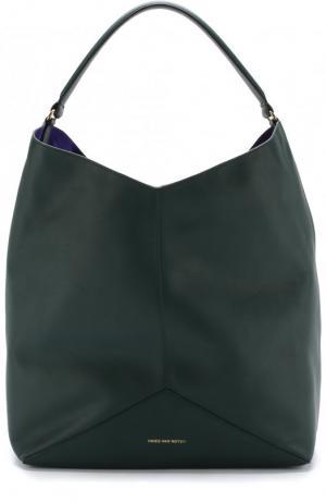 Кожаная сумка Dries Van Noten. Цвет: темно-зеленый