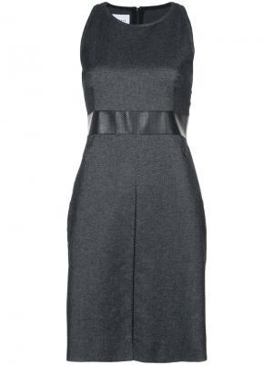 Приталенное платье Akris Punto. Цвет: чёрный