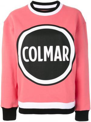 Толстовка с логотипом Au Jour Le For Colmar. Цвет: розовый и фиолетовый