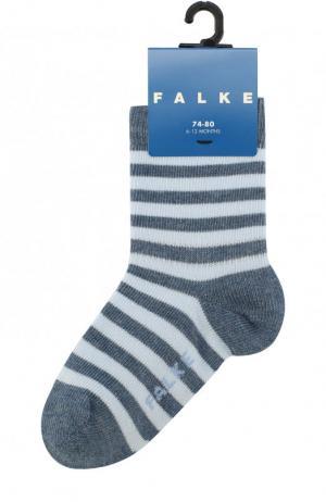 Хлопковые носки Falke. Цвет: голубой