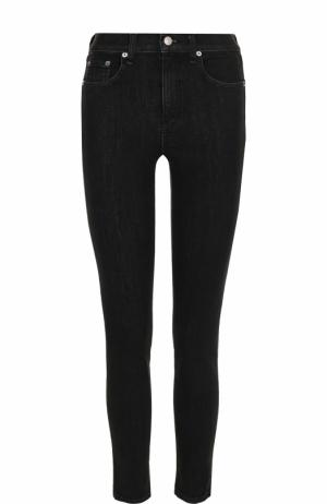 Укороченные джинсы-скинни с потертостями Rag&Bone. Цвет: серый