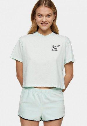 Пижама Topshop. Цвет: зеленый