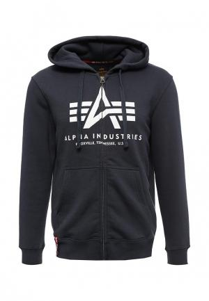 Толстовка Alpha Industries. Цвет: синий