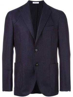 Пиджак на две пуговицы Boglioli. Цвет: синий