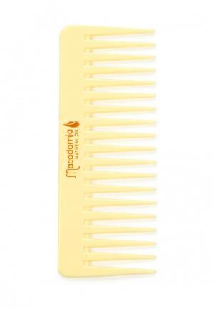 Расческа Macadamia Natural Oil. Цвет: желтый
