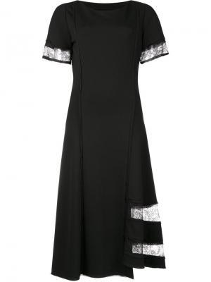 Платье с кружевными вставками Jason Wu. Цвет: чёрный