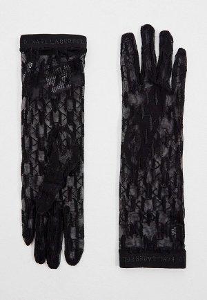 Перчатки Karl Lagerfeld. Цвет: черный