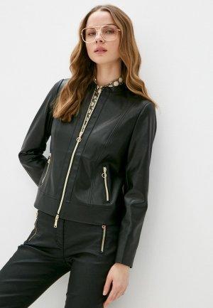 Куртка кожаная Betty Barclay. Цвет: черный