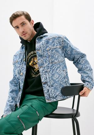 Куртка джинсовая Versace Jeans Couture. Цвет: голубой