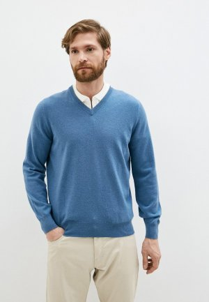 Пуловер Brunello Cucinelli. Цвет: синий