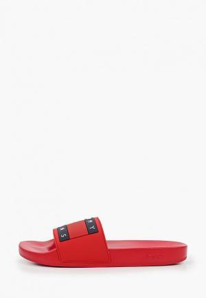 Сланцы Tommy Jeans. Цвет: красный