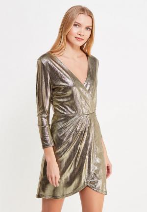 Платье Brigitte Bardot. Цвет: золотой