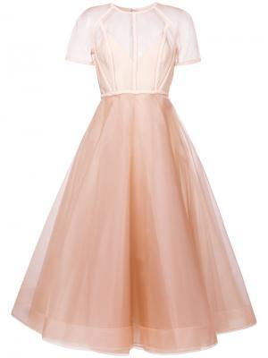 Структурированное платье-бюстье Alex Perry. Цвет: телесный