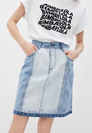 Юбка джинсовая Bimba Y Lola. Цвет: голубой