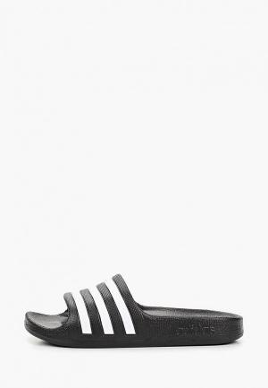 Сланцы adidas. Цвет: черный