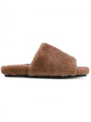 Сандалии с открытым носком Peter Non. Цвет: коричневый