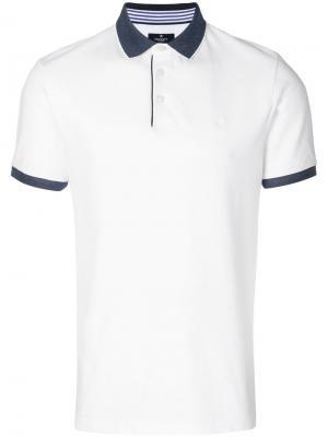 Contrast trim polo shirt Hackett. Цвет: белый
