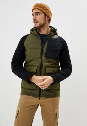 Куртка утепленная Aeronautica Militare. Цвет: хаки