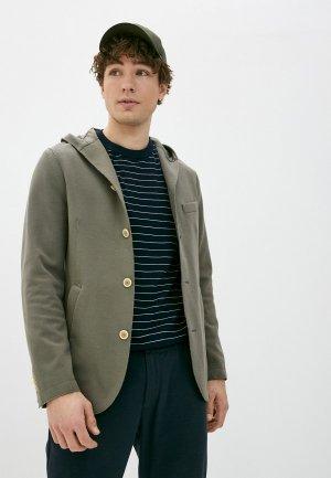 Пиджак Eleventy. Цвет: хаки