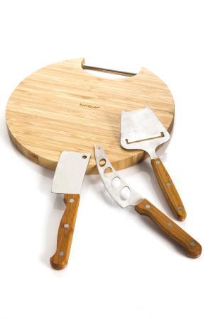 Набор для сервировки сыра Bambum. Цвет: бежевый