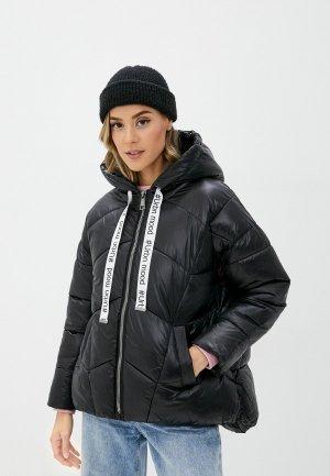 Куртка утепленная B.Style. Цвет: черный
