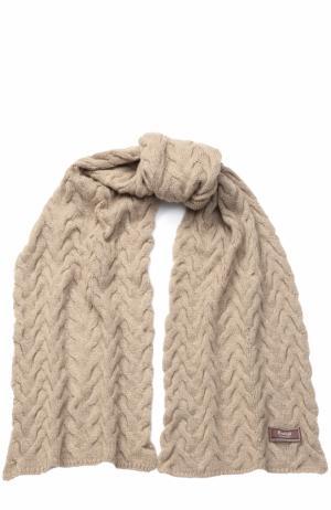 Вязаный кашемировый шарф Kashja` Cashmere. Цвет: бежевый