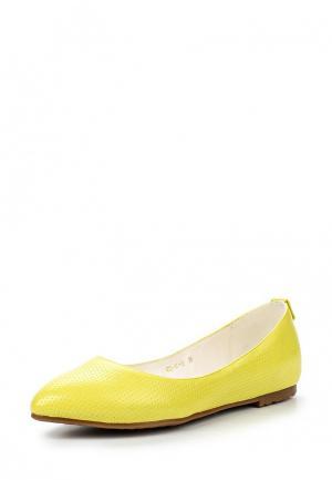 Балетки Dino Ricci Select. Цвет: желтый