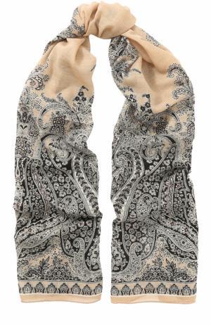 Шерстяной шарф с узором Michele Binda. Цвет: разноцветный