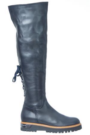 High boots LORETTA PETTINARI. Цвет: navy