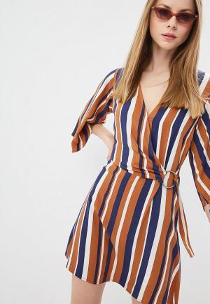 Платье Miss by Valentina. Цвет: коричневый