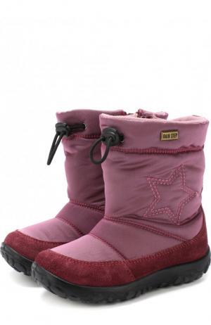 Утепленные сапоги с текстильной отделкой Naturino. Цвет: розовый
