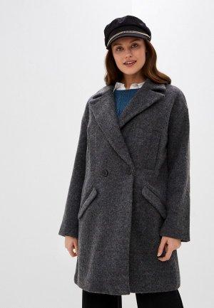 Пальто Ichi. Цвет: серый