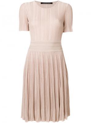Плиссированное платье Antonino Valenti. Цвет: телесный