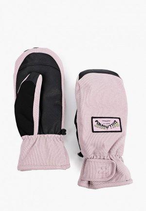 Варежки горнолыжные Billabong. Цвет: розовый