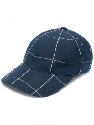 Checked cap A.P.C.. Цвет: синий