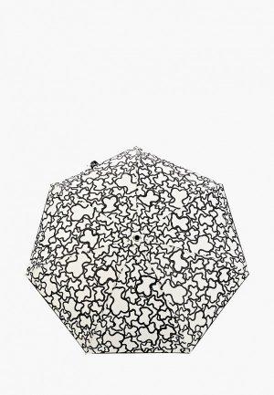 Зонт складной Tous. Цвет: белый