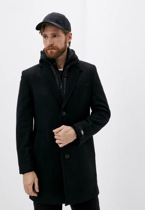 Пальто Karl Lagerfeld. Цвет: черный