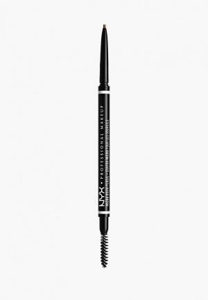 Карандаш для бровей Nyx Professional Makeup. Цвет: коричневый