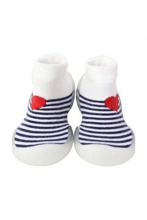 Носочки-ботиночки Heart Melody Ggomoosin. Цвет: белый