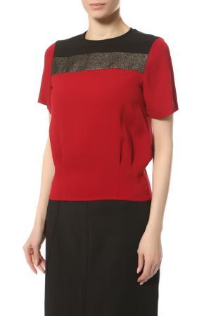Блуза Diane von Furstenberg. Цвет: красный