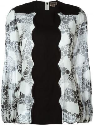 Блузка с фестонами Giambattista Valli. Цвет: чёрный