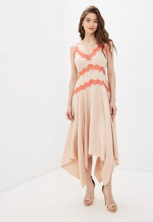 Платье Little Mistress. Цвет: бежевый