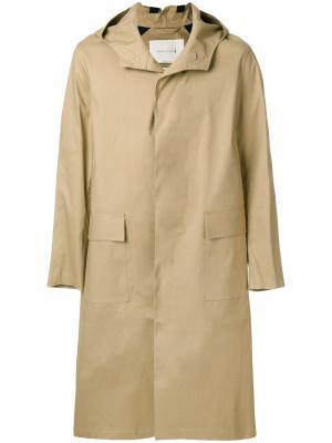 Удлиненное пальто с капюшоном Mackintosh. Цвет: телесный
